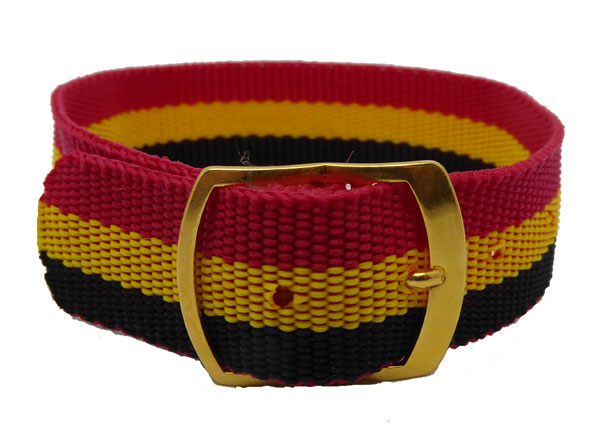 18mm Red Yellow & Black nylon watch straps