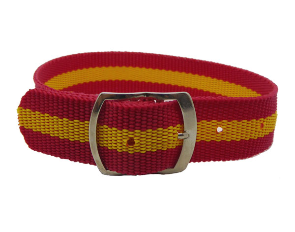 18mm Red & Yellow nylon watch straps