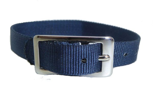 8mm Nylon Strap Blue Chrome