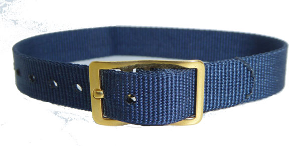 8mm Nylon Strap Blue Gilt