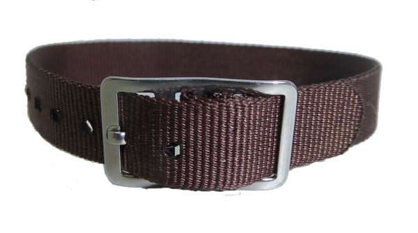 8mm Nylon Strap Brown Chrome