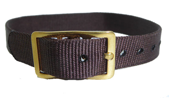 8mm Nylon Strap Brown Gilt