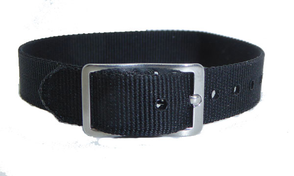 10mm Nylon Strap Black Gilt