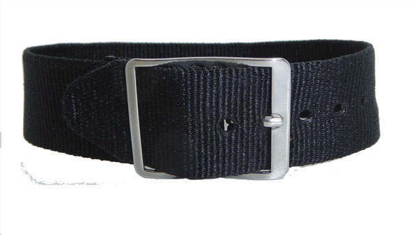 16mm Nylon Weave Watch Strap Blue Gilt