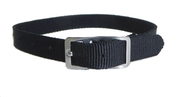 8mm Nylon Strap Black Chrome