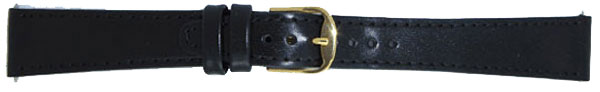 Black Leather Watch Straps 16C