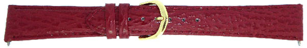 Dark Red Leather Strap 16mm Chrome