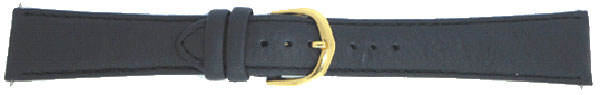 Black Plain Leather Padded Gilt 10 mm