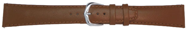 Light Brown Leather Straps, Gilt 8 mm