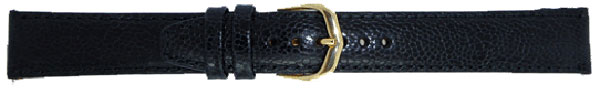 Black Leather Watch Straps 18G