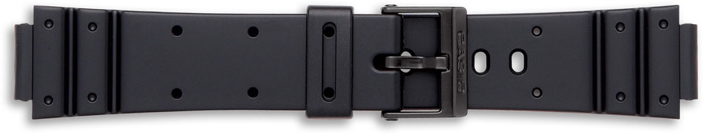 Black Casio Watch Straps, End Size 14mm.