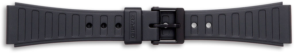 Black Casio Watch Straps, End Size 18mm.