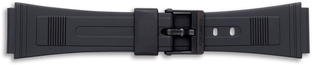 Black Casio Watch Straps, End Size 19mm.