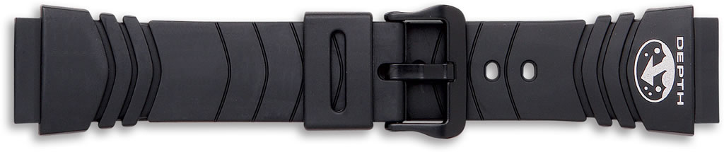 Black Casio Watch Straps..End Size 20mm.