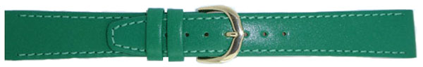 Bright Green Leather Straps Gilt 8mm
