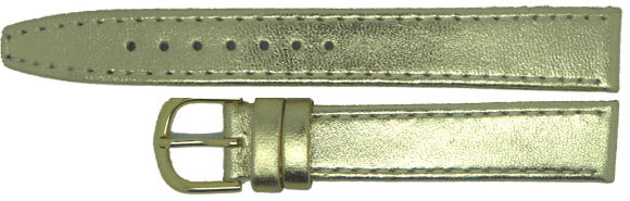Gold Leather Straps, Gilt, 10mm