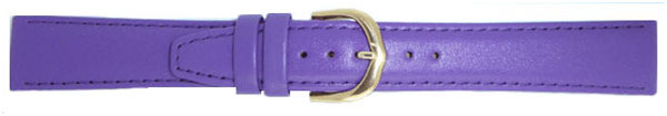 Purple Leather Calf Straps Gilt 10mm