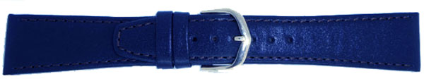 Royal Blue Leather Straps Fitting Chrome 20mm