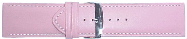 Wide Pink Leather Straps, Size 24 mm