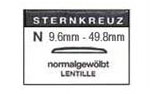 N Sternkreuz Domed Glasses
