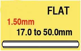 1.50mm Round Flat Glass 27.6mm