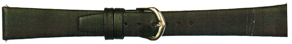 Black Full Grain Calf Leather Gilt 16 mm