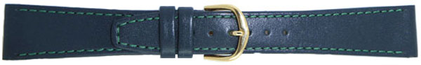 Green Leather Straps Gilt 12mm