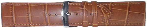 26mm Brown Leather Strap