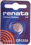 Renata CR1220 3 Volt Lithium Coin Cell. Also known as DL1220, EC