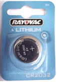 CR2032 3 Volt Lithium Coin Cell. Also known as DL2032, BR2032, K